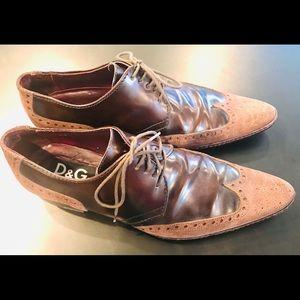 Dolce & Gabbana Brogue Maroon men shoes